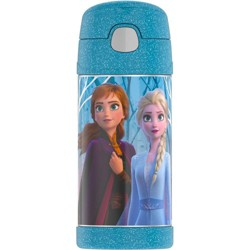 Disney Frozen 2 Thermos 12oz Kids' FUNtainer Water Bottle - Blue
