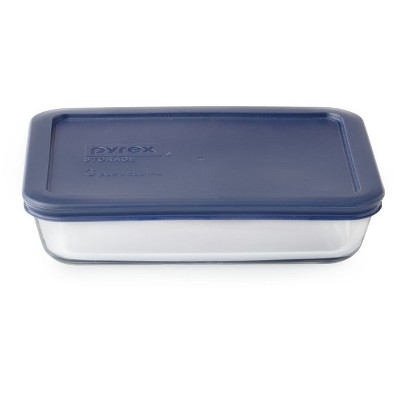 Pyrex 3 Cup Rectangular Food Storage Container Blue