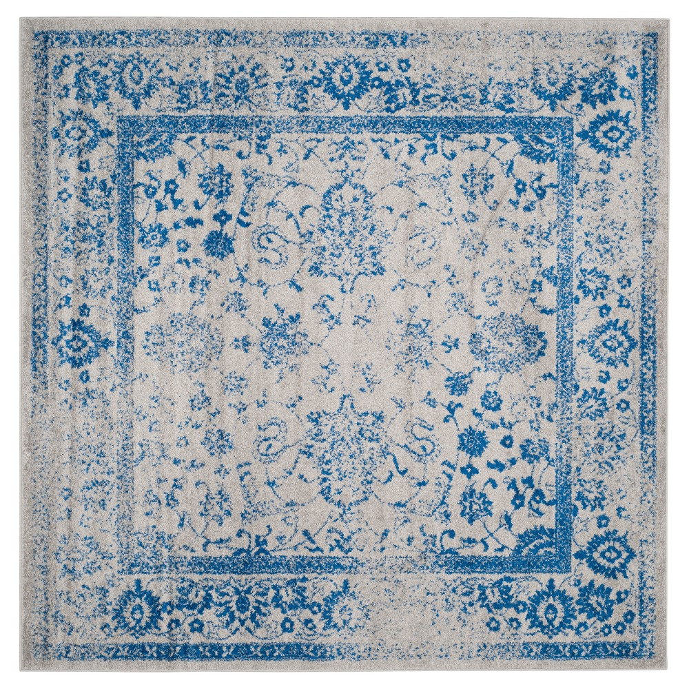 Reid Area Rug - Gray/Blue (8'x8') - Safavieh