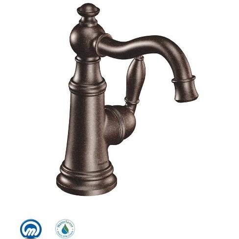 Moen S42107 Weymouth Single Handle Single Hole Bathroom Faucet