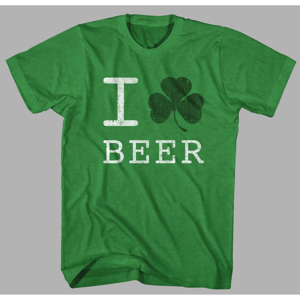 Image of Men's Clover Beer Short Sleeve Graphic T-Shirt - Green 2XL, Men's