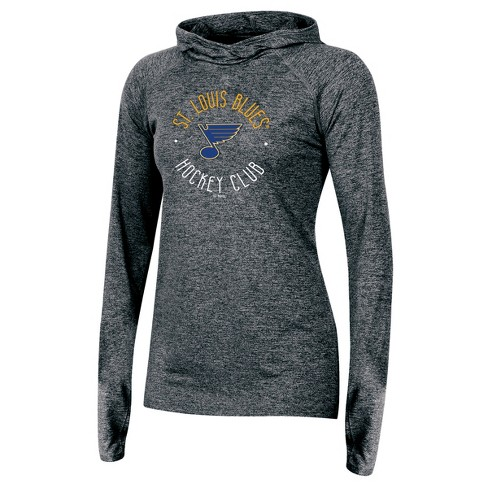 ee795b5cba St. Louis Blues Women's For the Win Gray Performance Hoodie S