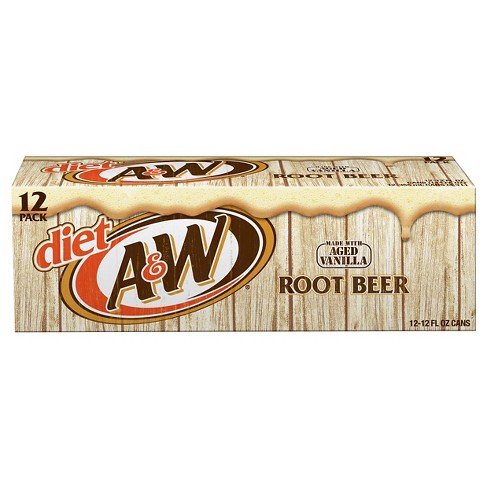 Diet A&W Root Beer - 12pk/12 fl oz Cans - image 1 of 2