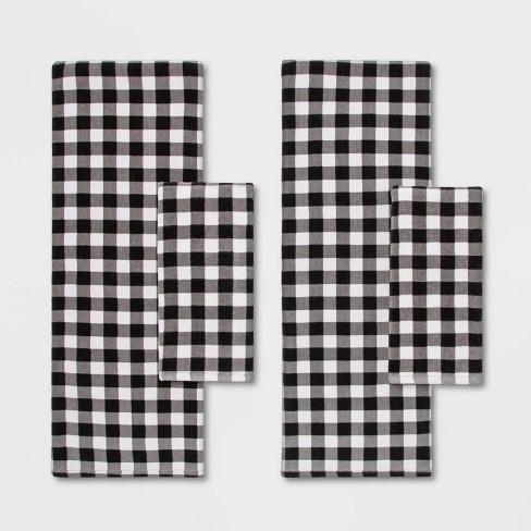 Checked Towel Set Black/White - Wondershop™ - image 1 of 2