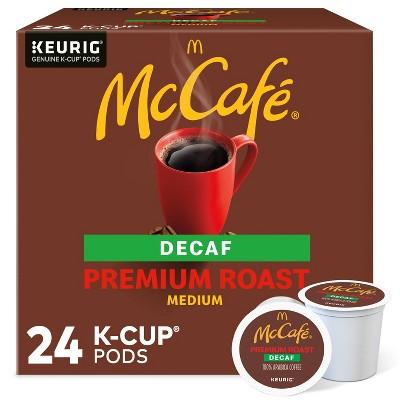24ct McCafe Premium Roast Decaf Keurig K-Cup Coffee Pods Decaffeinated Medium Roast