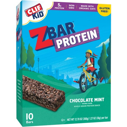 Clif Kid Zbar Protein Chocolate Mint Energy Snack - 12.70oz - 10ct - image 1 of 3