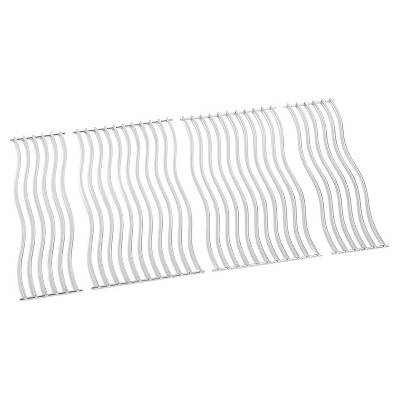 Napoleon S87005 Replacement Nonstick Stainless Steel Waved Cooking Grids for Triumph 495 Grills, Silver (Set of 4)