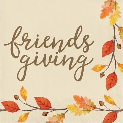 48ct Thankful Friendsgiving Napkins