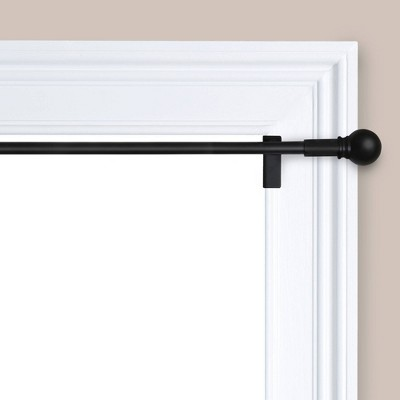 "48""-84"" Twisted and Shout Curtain Rod Matte Black - Room Essentials™"