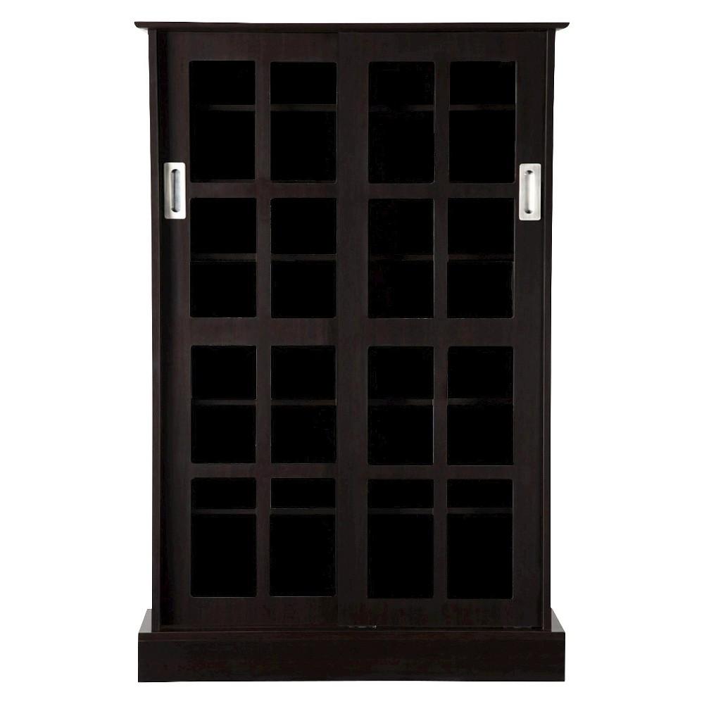 Windowpane Cabinet Media Storage Espresso (Brown) 49 - Atlantic