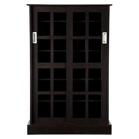 Windowpane Cabinet Media Storage - image 1 of 4
