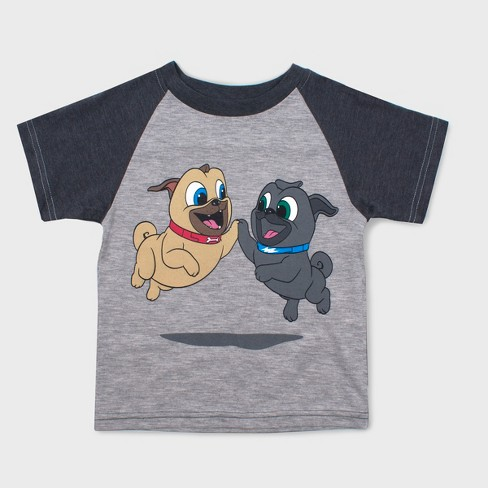 Toddler Boys' Disney Puppy Dog Pals Short Sleeve T-Shirt - Gray 12M - image 1 of 1