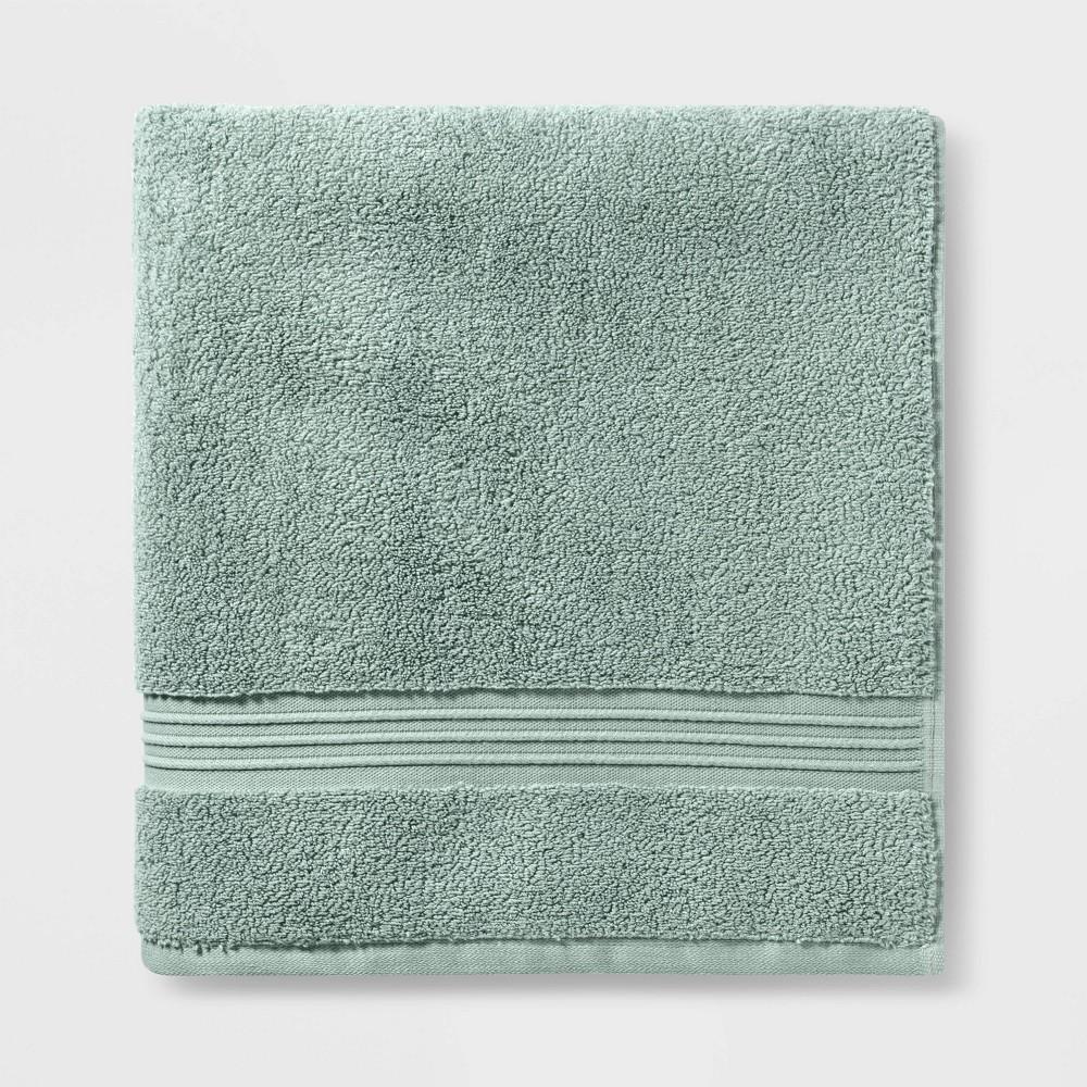Spa Bath Sheet Light Green - Threshold Signature Coupons