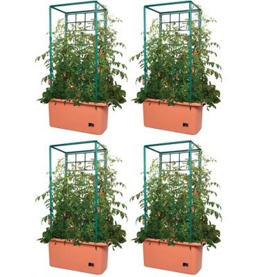 Hydrofarm GCTR 10 Gal Tomato Trellis Self Watering Garden Grow System (4 Pack)