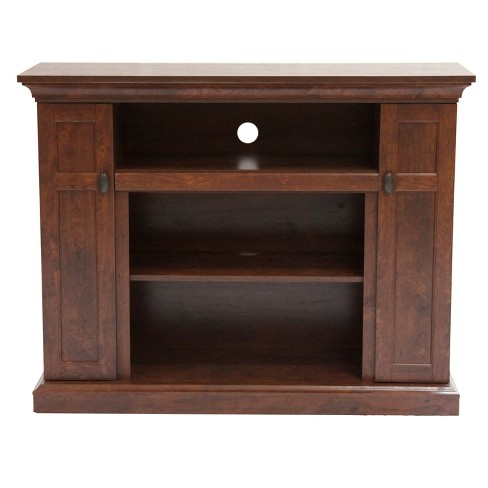 "48"" Wood TV Stand Convertible To Fireplace Brown - Home Source Industries - image 1 of 8"