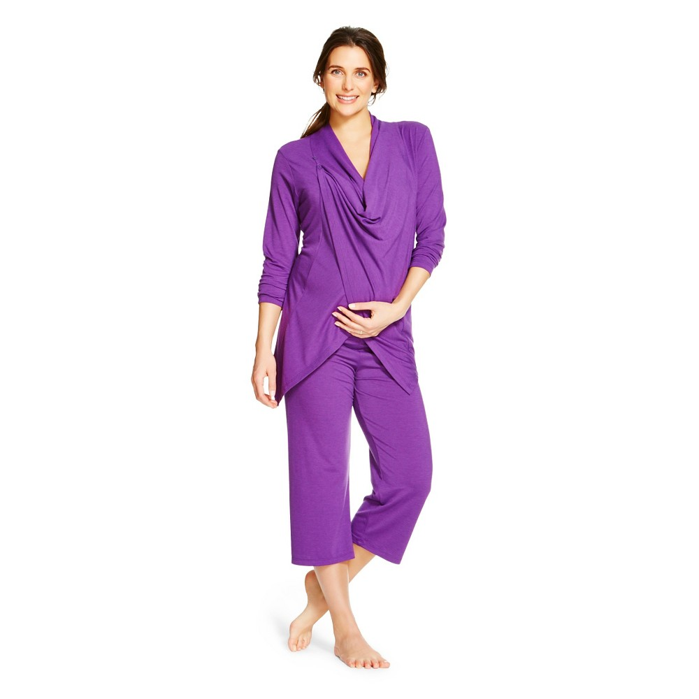 Eve Alexander Women's Nursing 3 Piece Set S Purple