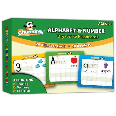 Channie's Dry Erase Alphabet & Number Flash Card