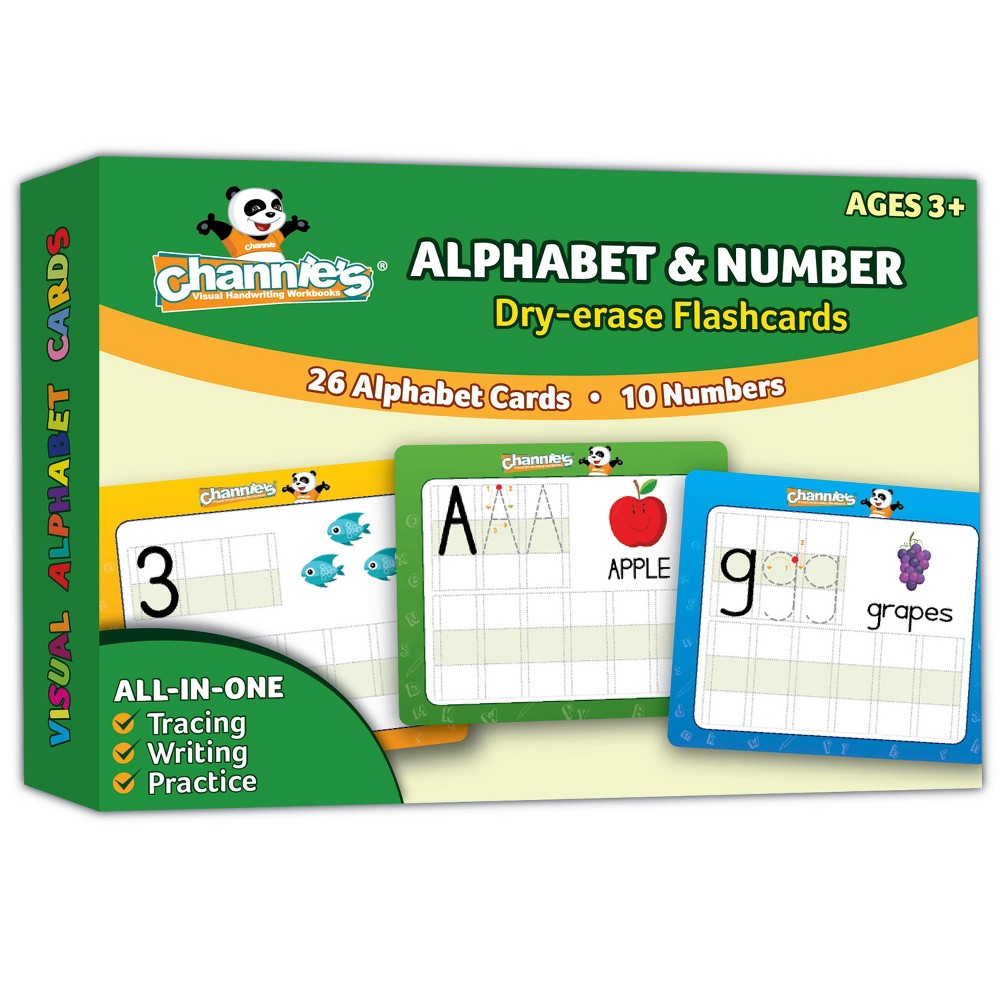 Image of Channie's Dry Erase Alphabet & Number Flash Card