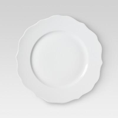 Scallop Ceramic Dinner Plate 10.6 x10.6  Set of 4 - White - Threshold™