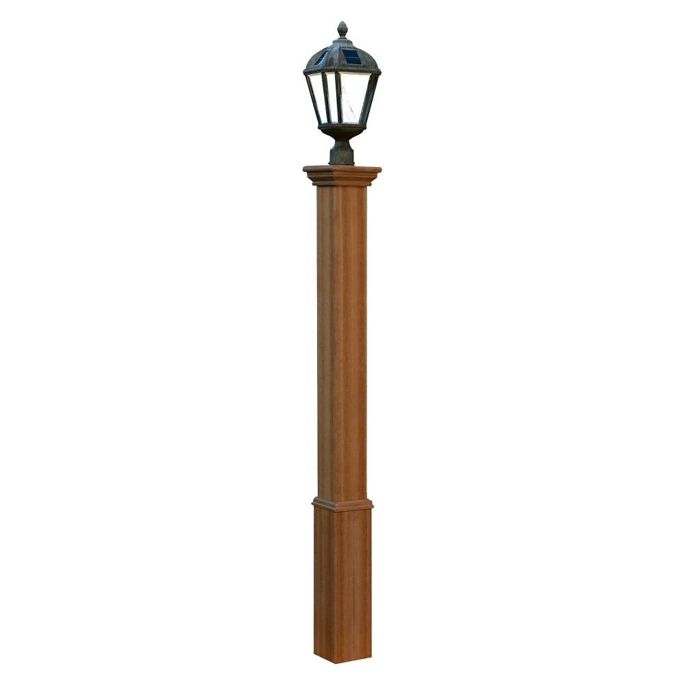 Image of New England Arbors Trinity Composite Lamp Post