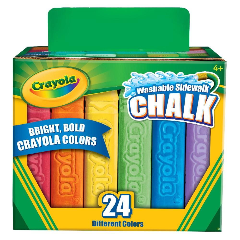 Crayola Sidewalk Chalk Washable 24ct, Multi-Colored
