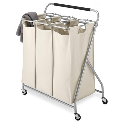 Whitmor Easy-Lift 3-Bag Triple Laundry Sorter