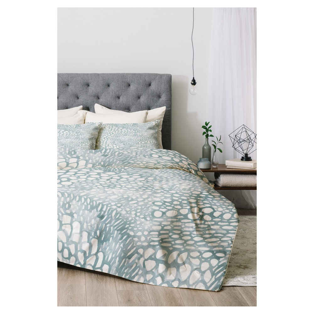 Blue Dash and Ash Cove Comforter Set (Queen) 3pc - Deny Designs
