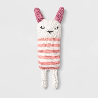 Baby Girls' Bunny Rattler - Cloud Island™ Pink One Size