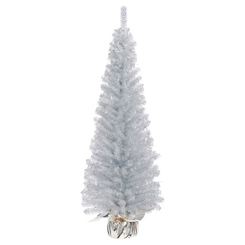 - 4ft Unlit Silver Slim Artificial Christmas Tree : Target