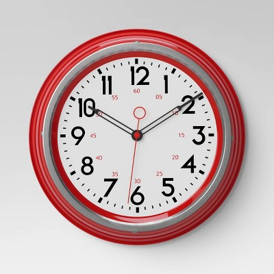 Schoolhouse 14  Wall Clock Red - Threshold™
