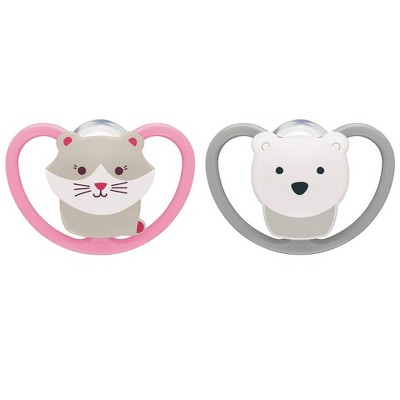 NUK Pacifier Size 1 - Space Bear/Cat - 2pk