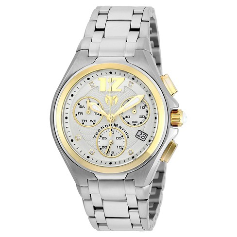 Men's Technomarine TM-215013 Manta Neo Classic Quartz Silver and Gold Dial Link Watch - Silver - image 1 of 1