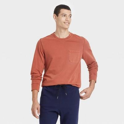 Men's Standard Fit Long Sleeve Crewneck T-Shirt - Goodfellow & Co™