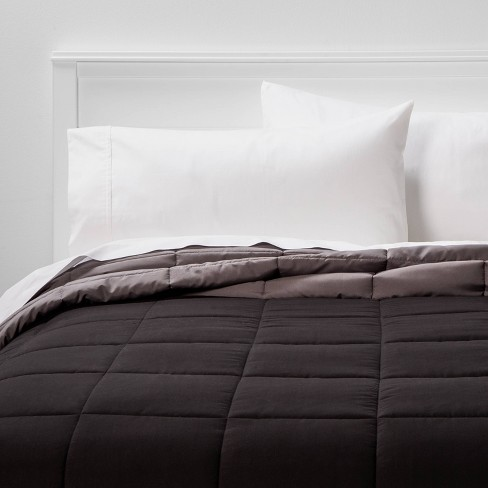 Reversible Microfiber Solid Comforter - Room Essentials™ - image 1 of 4