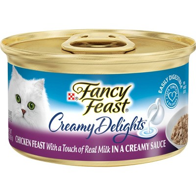 Purina Fancy Feast Creamy Delights In a Creamy Sauce with a Touch of Real Milk Gourmet Wet Cat Food Chicken Feast  - 3oz