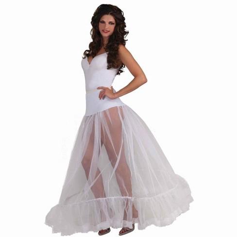 Forum Novelties White Adult Ballroom Length Costume Crinoline Slip OneSizeFitsMost - image 1 of 1