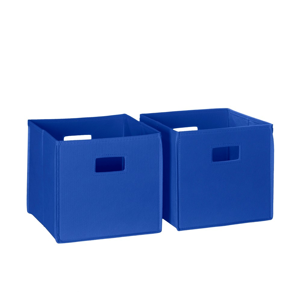 Image of 2pc Folding Toy Storage Bin Set Blue - RiverRidge