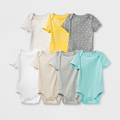 Baby 7pk Bodysuits - Cloud Island™ 6-9M