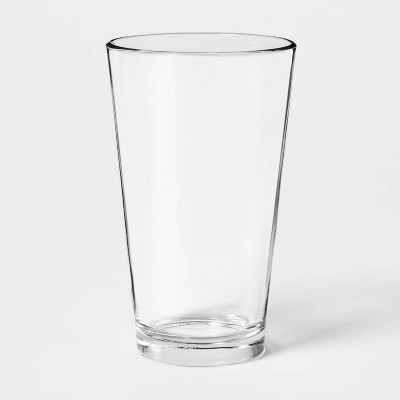 16oz Glass Basic Pint Glass - Threshold™