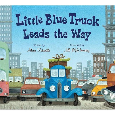 Little Blue Truck Leads the Way ( Little Blue Truck) by Alice Schertle (Board Book)