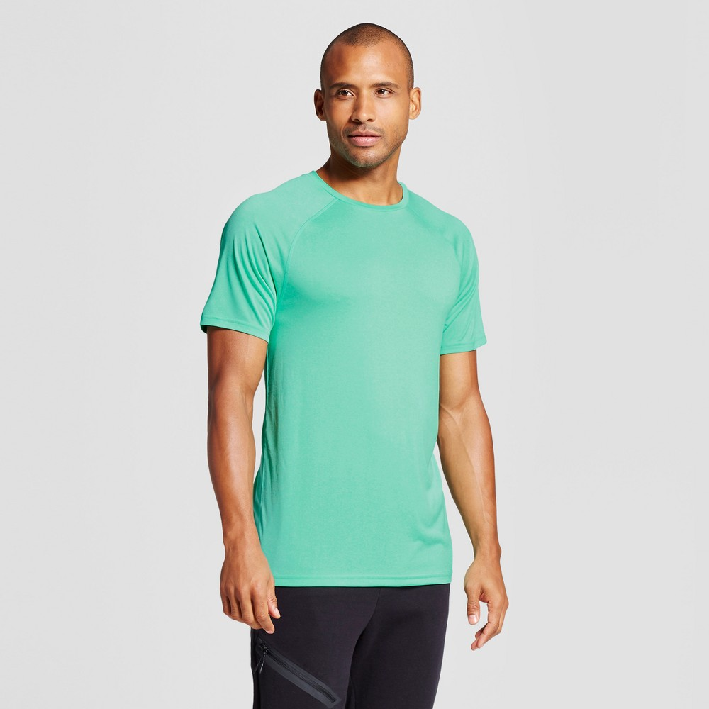 Men's Tech T-Shirt - C9 Champion Emerald Gem Green Heather XL, Emerald Green