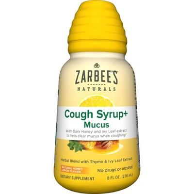 Zarbee's Naturals Cough Syrup + Mucus Reducer - Dark Honey & Lemon - 8 fl oz