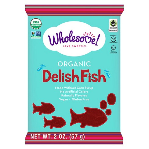 Wholesome Organic Delish Fish Gummy Candy - 2oz - image 1 of 1