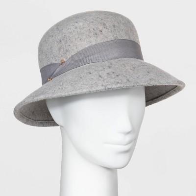 Women's Felt Cloche Hat - A New Day™ Gray One Size