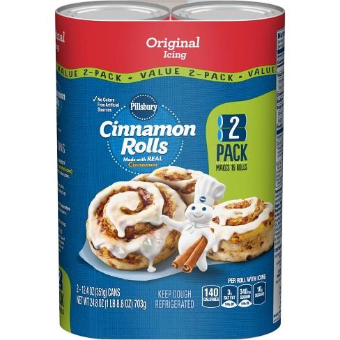 Pillsbury Cinnamon Rolls with Icing - 2pk/12.4oz Cans - image 1 of 3