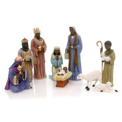 "Black Art 6.0"" Nativity Set Mary Jesus Holy Kings  -  Decorative Figurines"