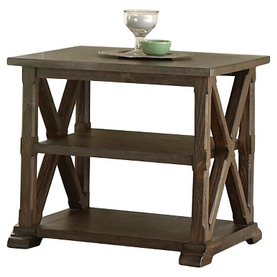 Southfield End Table Weathered Pine - Steve Silver