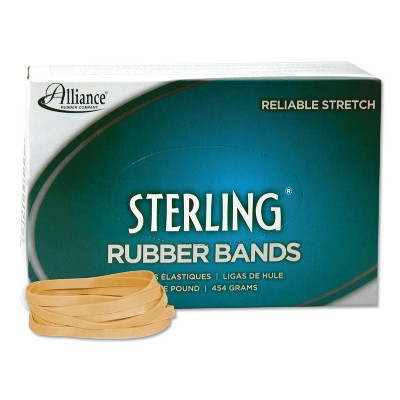 Alliance Sterling Ergonomically Correct Rubber Bands, #64, 3-1/2 x 1/4, 425 Bands/1lb Box