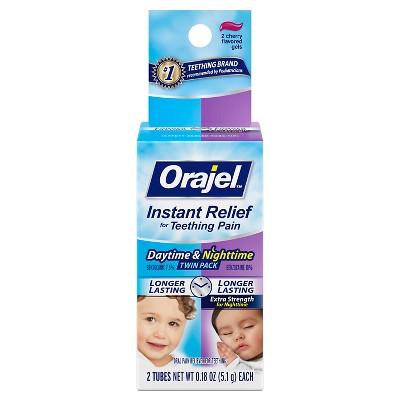 Orajel Daytime/Nighttime Twin Pack Teething Pain - 0.36oz