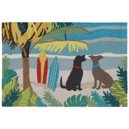 Frontporch Dog Beach Accent Rug Liora Manne